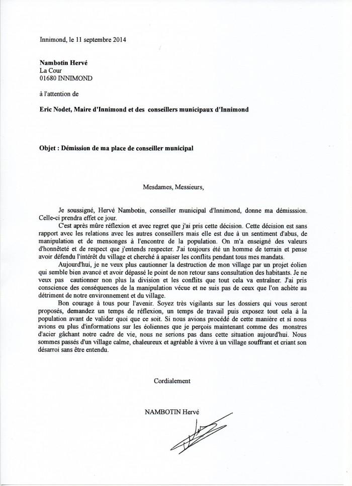Lettre De Demission Quick | Job Application Letter