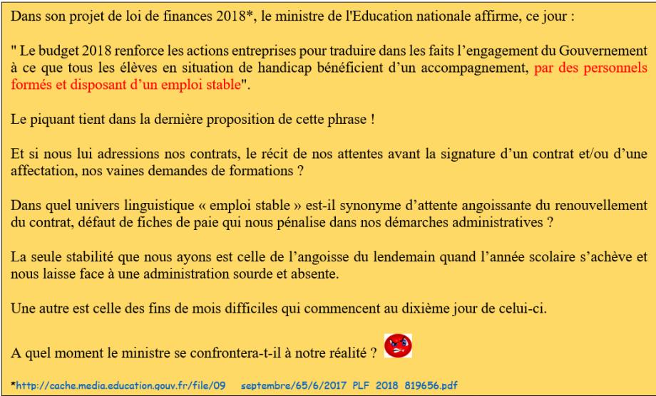 Stop A La Maltraitance Socio Economique Des Aesh Petitions24 Net